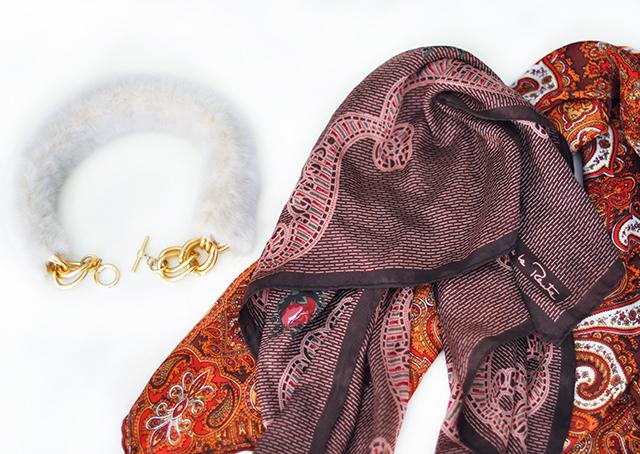 DIY Faux Fur Scarf necktie-1