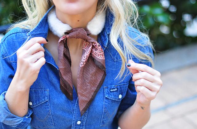DIY Faux Fur Scarf necktie-7