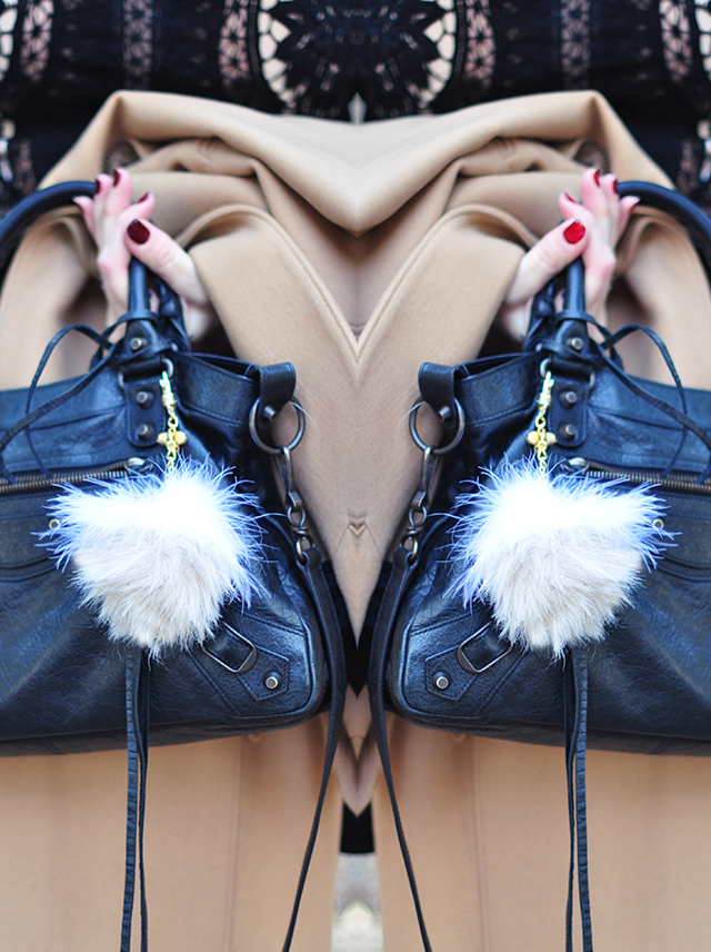 DIY Faux Fur and Feathers Bag Charms