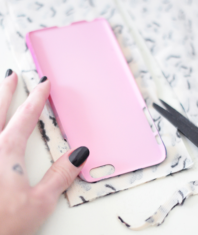 DIY Faux Fur leopard phone case-2