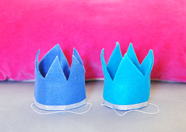 DIY Felt crowns for dogs or kids