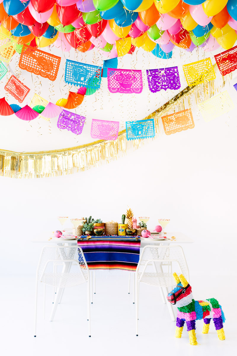 DIY Fiesta Balloon Ceiling4
