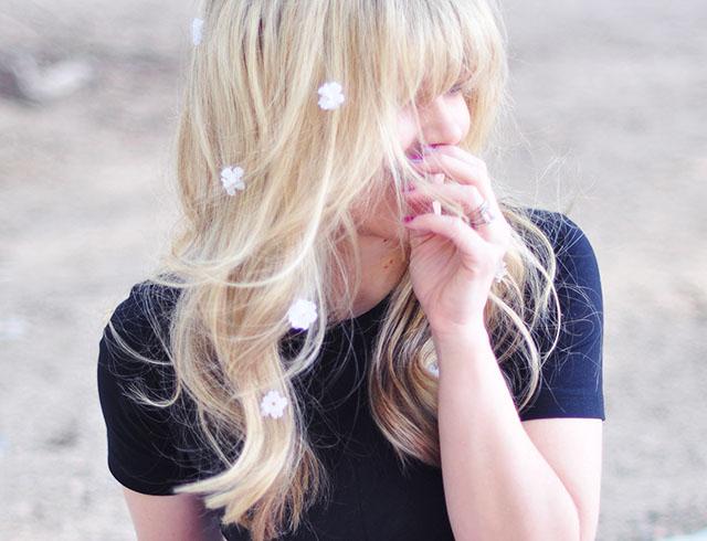 DIY Floating Hair Flowers