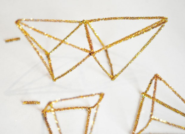 DIY Gold 3D Star Tree Topper-7