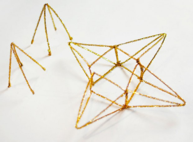 DIY Gold 3D Star Tree Topper-8