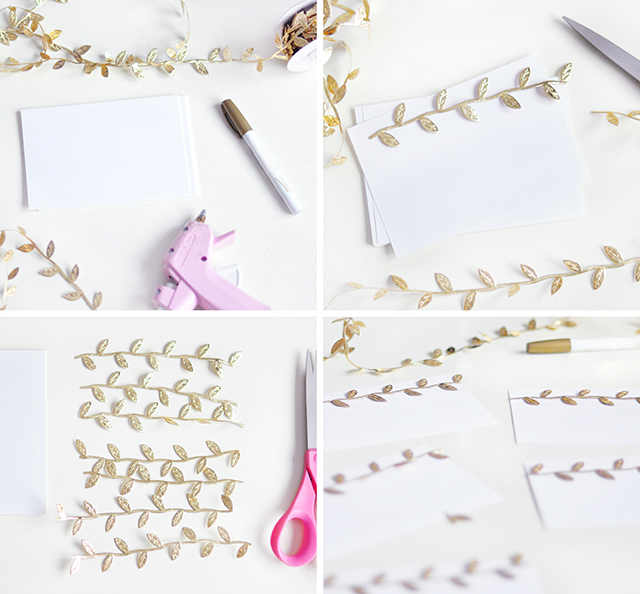 DIY Gold Leaf Stationary_2
