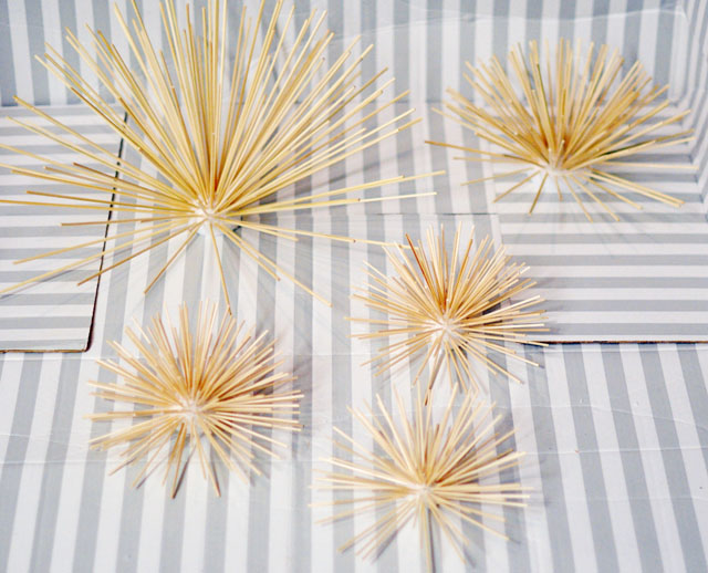 DIY Gold Sea Urchins wall art decor-4