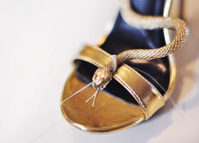 DIY Gold Snake Serpent Shoes-7