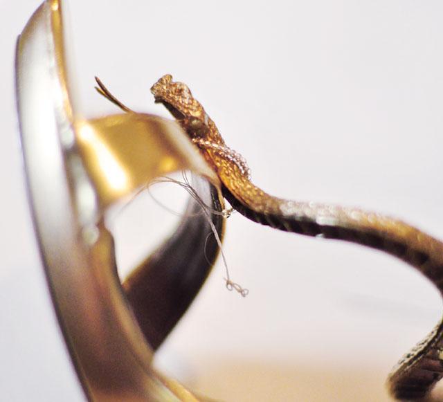 DIY Gold Snake Serpent Shoes-8