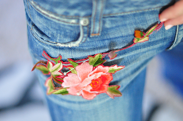 DIY Gucci Embroidered Jeans-4