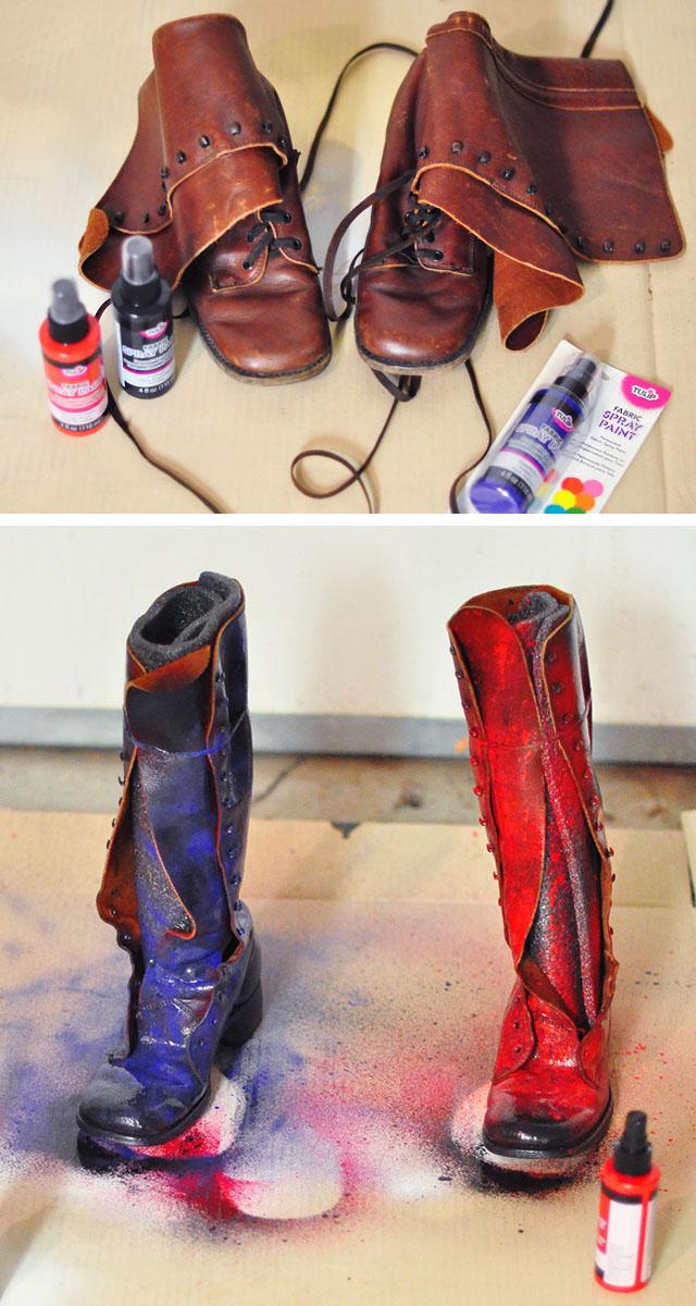 DIY Harley Quinn BOOTS Arkham Knight