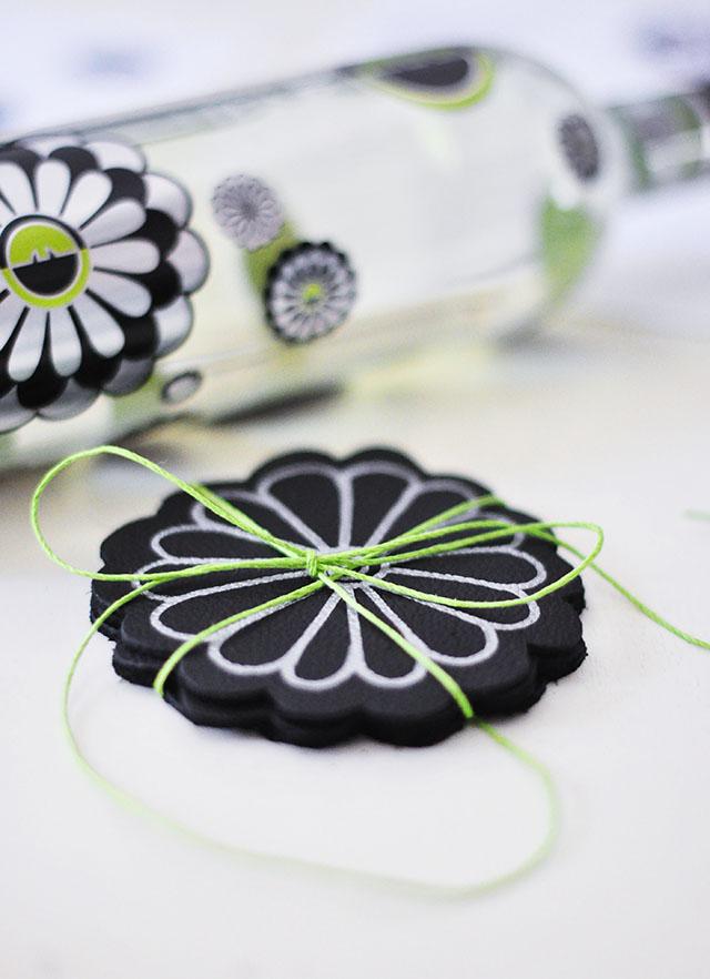 DIY Leather Flower Coasters_Zac Posen_Ecco Domani