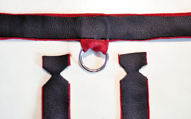 DIY Leather Harness - harley quinn arkham knight 13