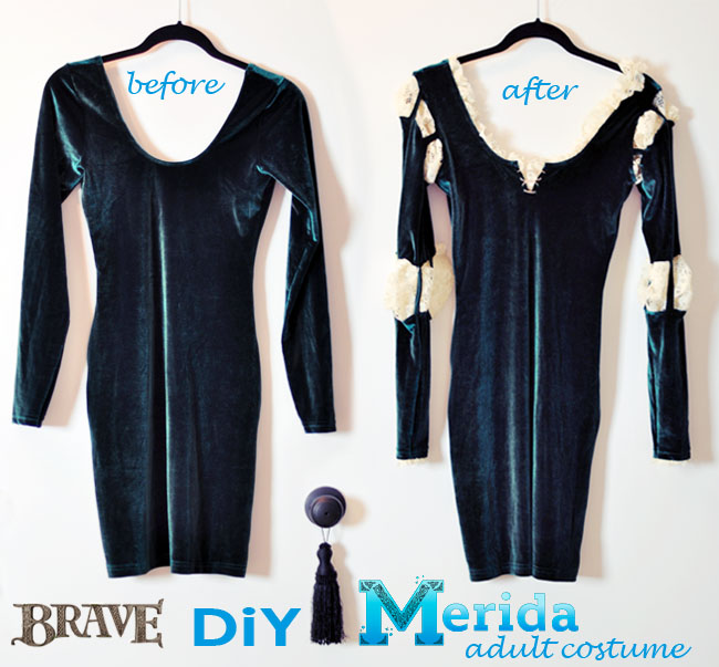 DIY-Merida-Sexy-Costume-before-after