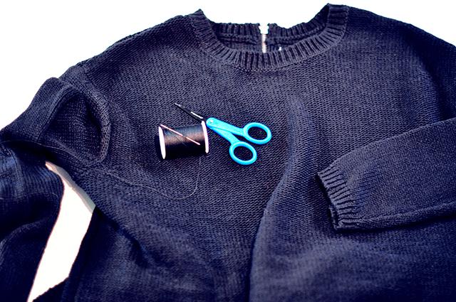 DIY Open Shoulders Sweater_1