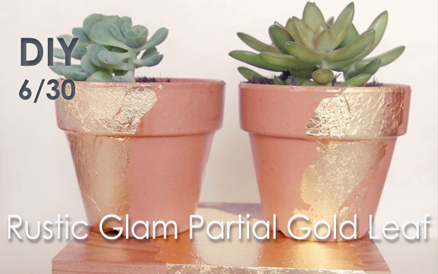 DIY Partial Gold Leaf objects