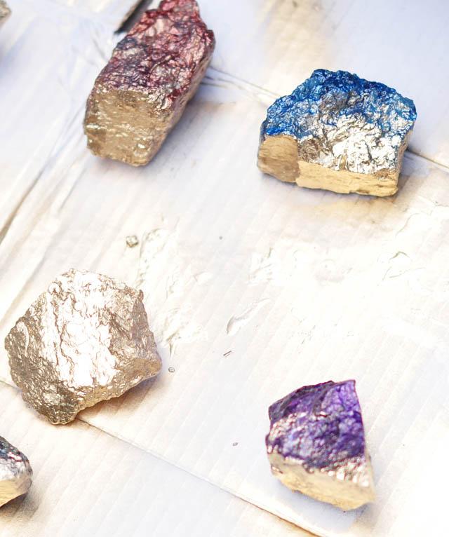 DIY Rock Crystals with Nail Polish step 5