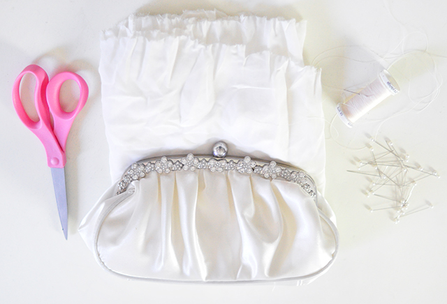 DIY Ruffled Wedding Clutch- 1