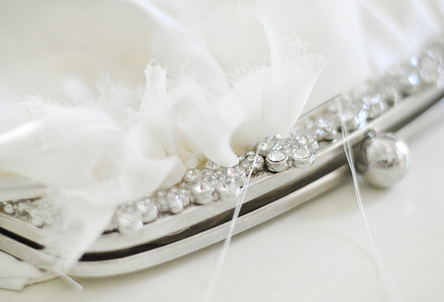 DIY Ruffled Wedding Clutch-6