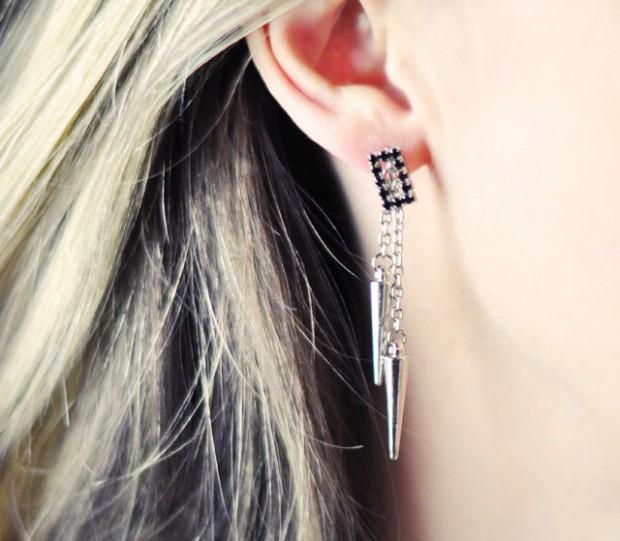 DIY Studded Drop Earrings-10