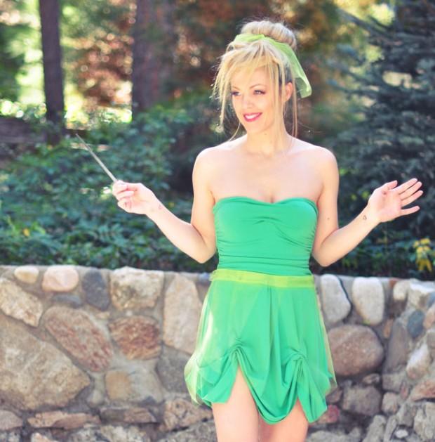DIY Tinkerbell costume-45