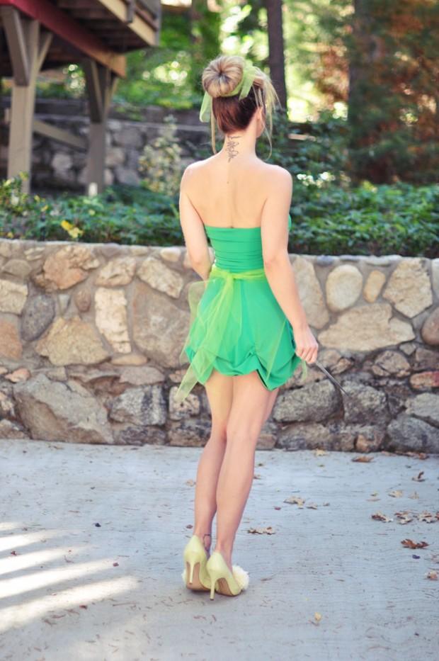 DIY Tinkerbell dress costume bun-1