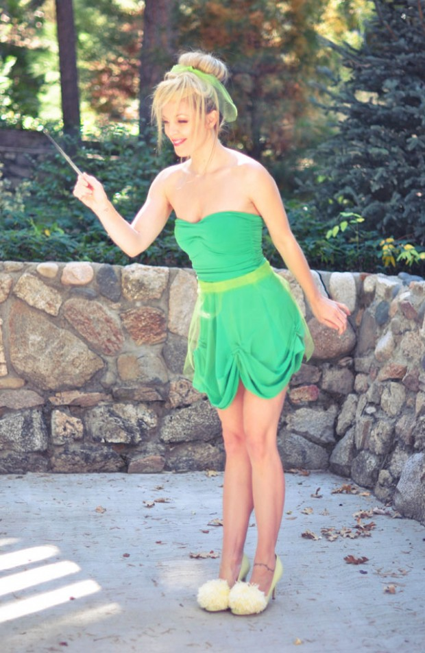 DIY Tinkerbell dress costume shoes-1