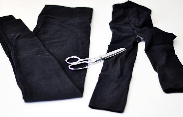 DIY Turtleneck choker from leggings_1