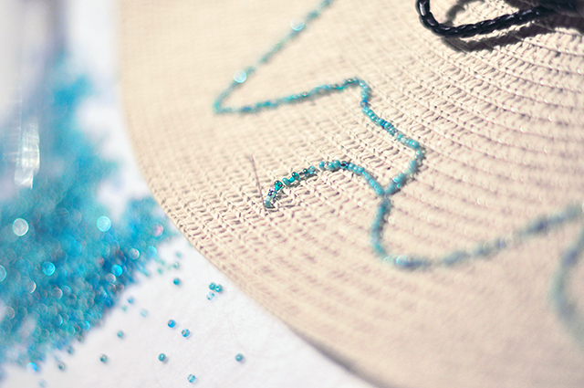 DIY Embroidered Summer Sunhat