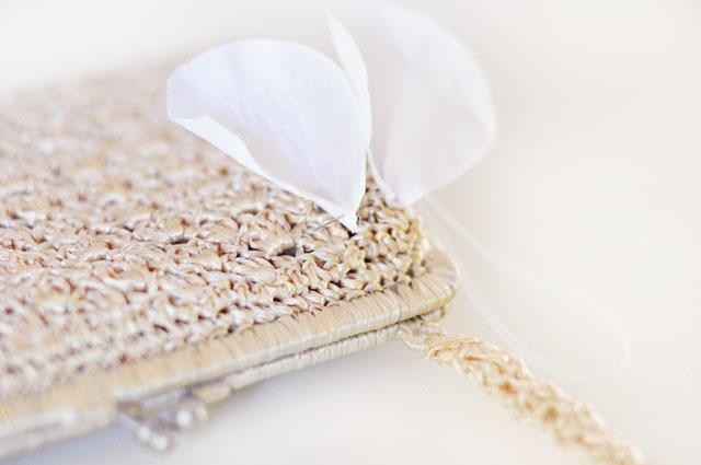 DIY Wedding petal bag purse clutch-2