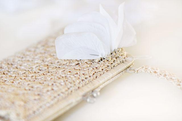 DIY Wedding petal bag purse clutch-3