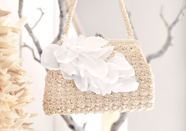 DIY Wedding petal bag purse clutch-6