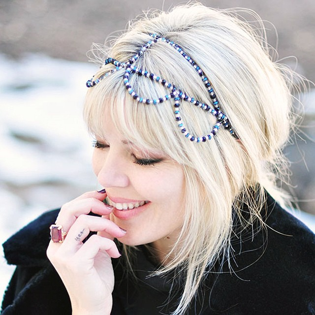 DIY beaded crown headband