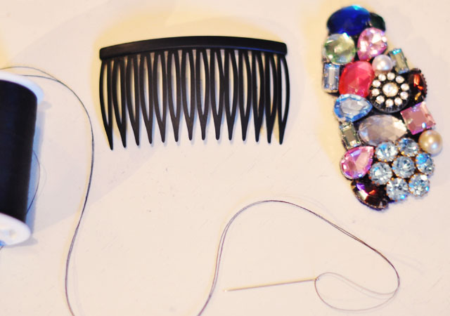 DIY-bejeweled-hair-combs-5