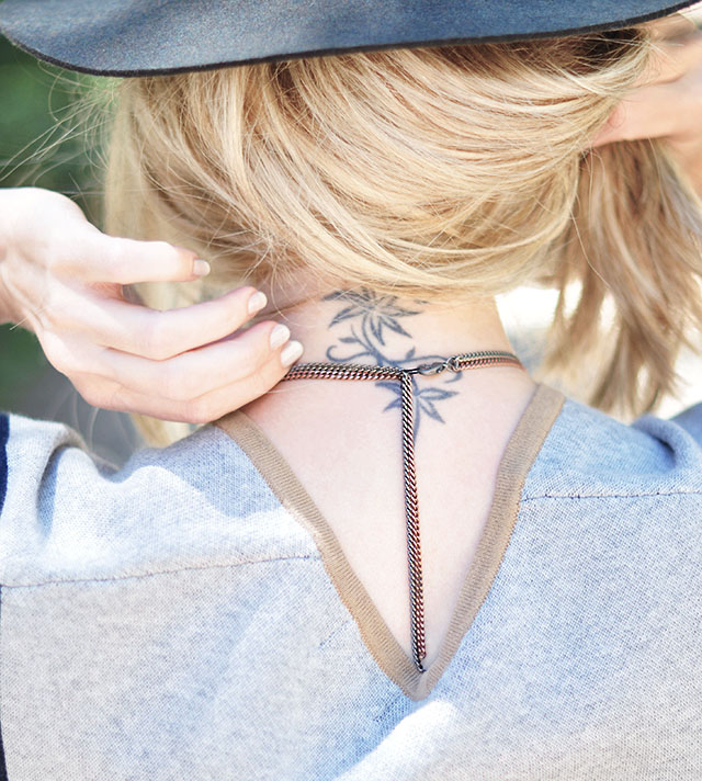 DIY chain necklace_ neck tattoo