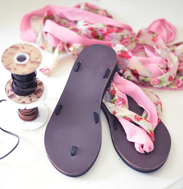 DIY easy knee high gladiator sandals