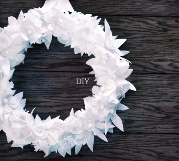 DIY floral felt holiday wreath
