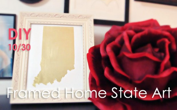 DIY home state art framed print- feature