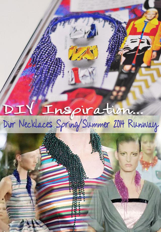DIY inspiration dior necklace 2014 ss