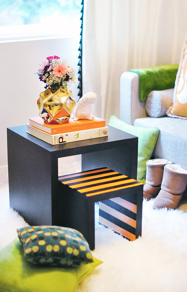 DIY painted nesting tables _Guest Room decor