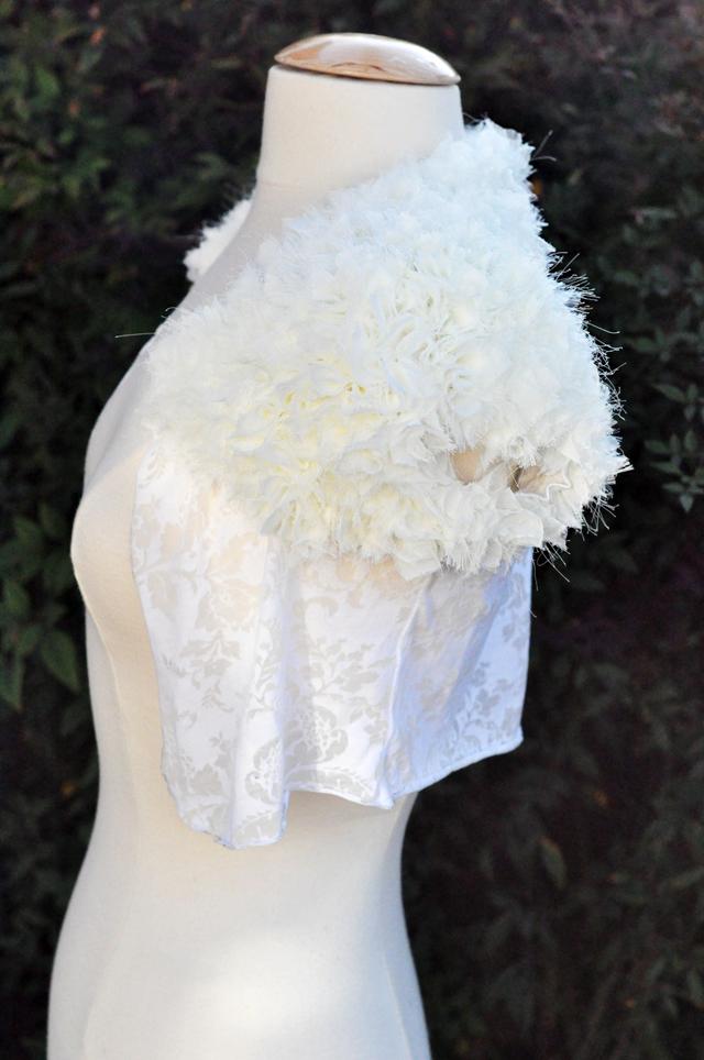 DIY Petal Wedding Shrug from a T-shirt
