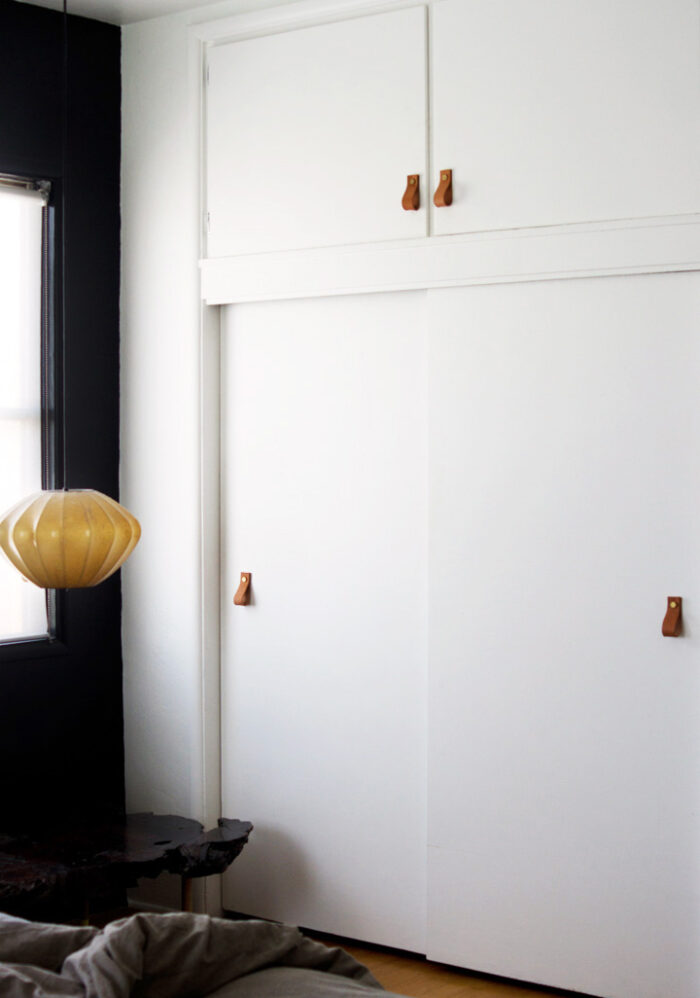 DIY Leather Closet Pulls