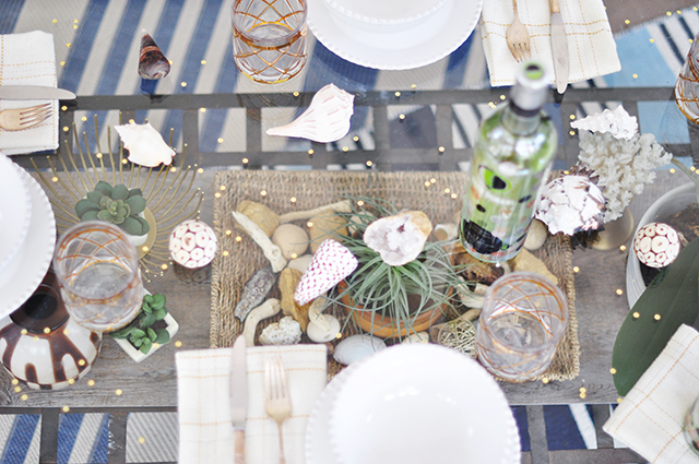 Desert Chic tablescape with Ecco Domani Zac Posen