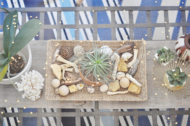 Desert chic summer table decor