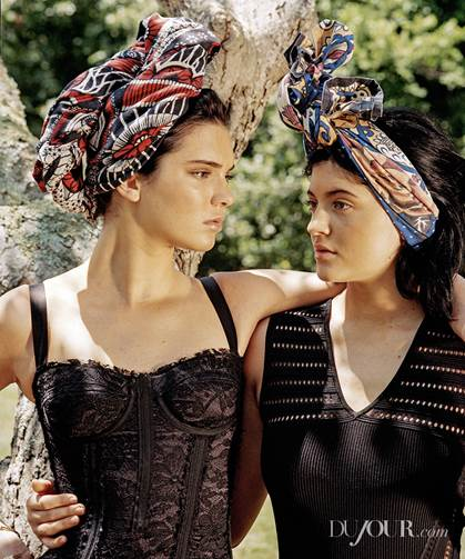 DuJour Magazine-Kendall & Kylie-Life Under the Microscope-1