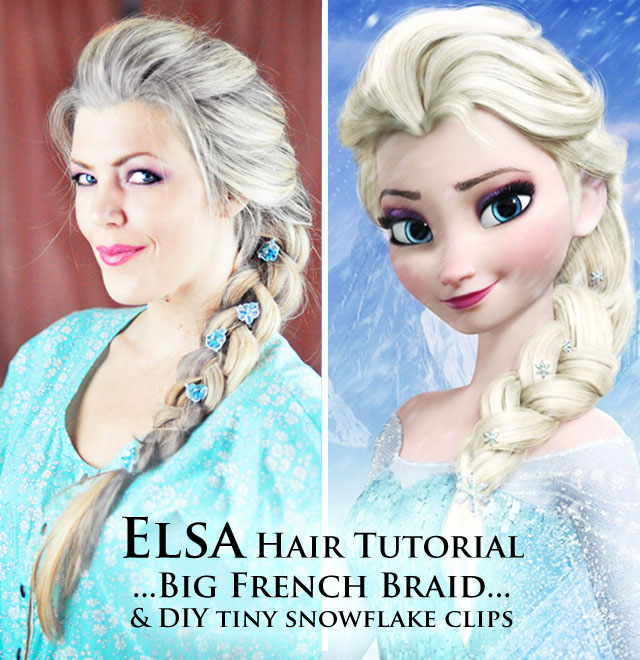 ELSA HAIR TUTORIAL-Big French Braid