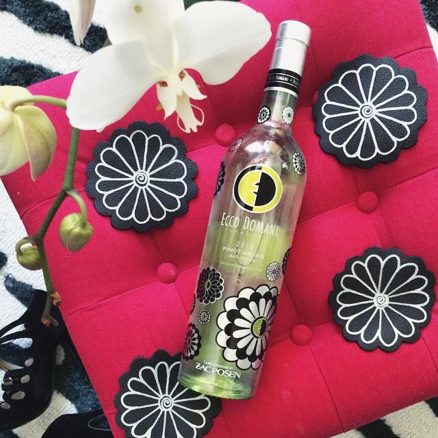 Ecco Domani Pinot Grigio by Zac Posen_DIY Leather flower coasters