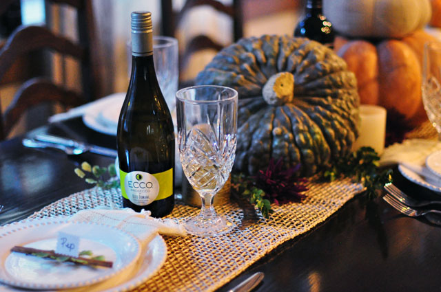 Ecco Domani Prosecco- Thanksgiving table top