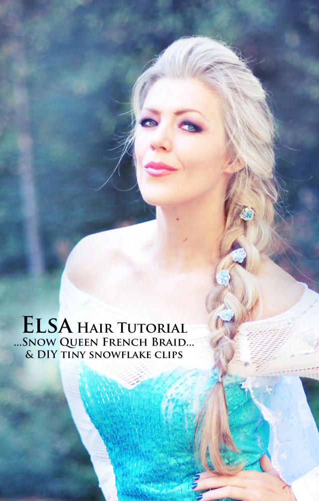 Elsa Braid Hair Tutorial  +  DIY Costume