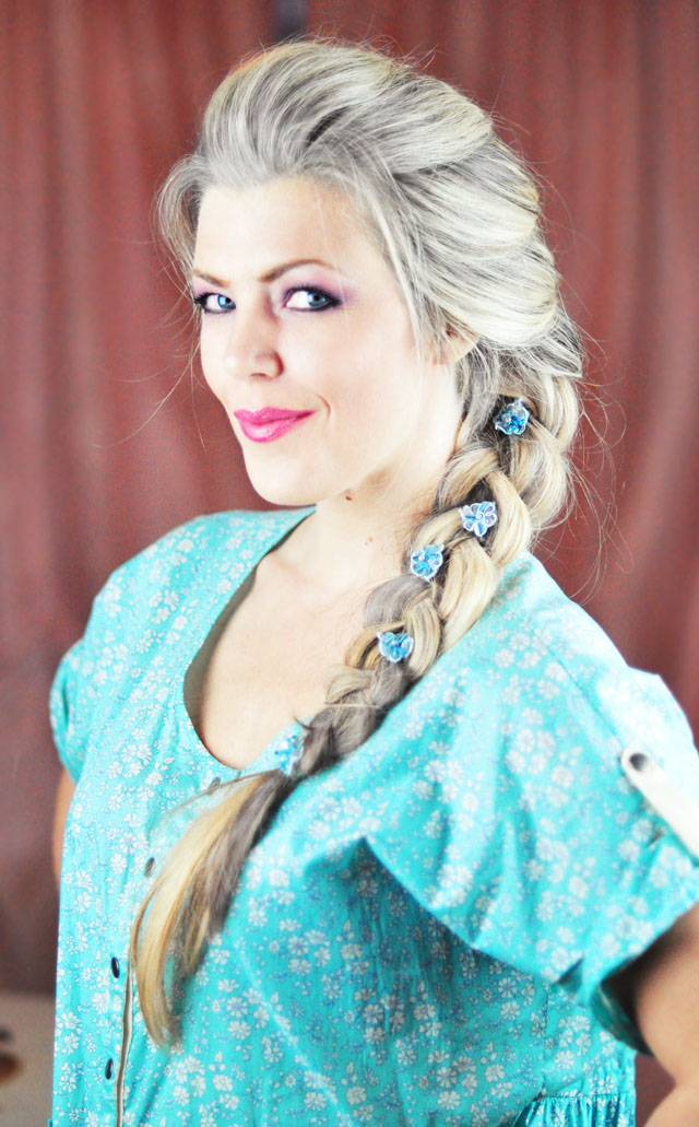 Elsa Braid Hair Tutorial-french braid-frozen